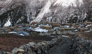 "The trail to ""New"" Khangsar."