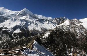 Ghusang and Annapurnas behind it.