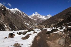 The trail toward Yak Kharka.