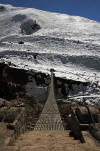Suspension bridge over the Ghyanchang Khola.