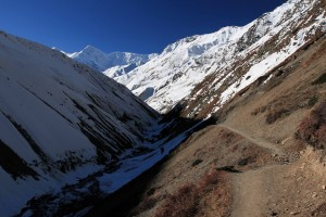 Looking back on the trail in the Kone Khola valley.