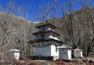 Pagoda in the Muktinath Temple complex.