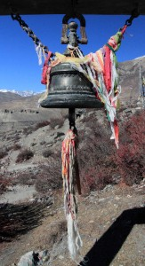 Bell at the entrance to the Muktinath Temple complex.