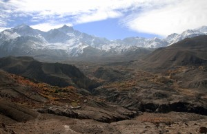 Looking back at the Muktinath valley.