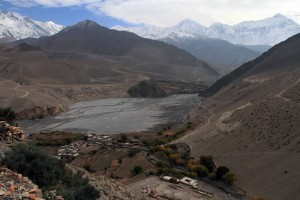 Looking down at Tiri from its local Gompa.