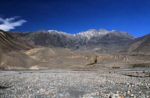 The riverbed of the Kali Gandaki Nadi.