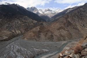 Where the Pongkyu Khola meets the Kali Gandaki Nadi.