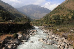 Crossing the Kali Gandaki Nadi, yet again.