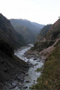 The Kali Gandaki Nadi, seen from just south of Tatopani.