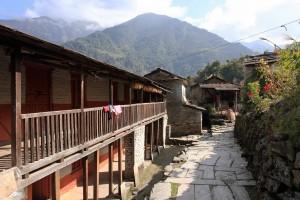 Street through the town of Shikha.