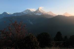 Looking toward Annapurna I and Annapurna South.