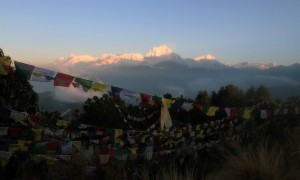 The prayer flags on Poon Hill.