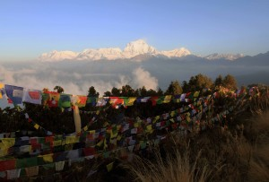 Another photograph of the prayer flags.