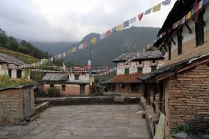 Courtyard in Old Ghandruk.