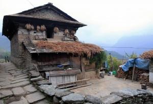 Stone home in Ghandruk.