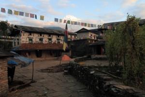 Central courtyard in Old Ghandruk.