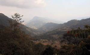 View of the valley near Kande.