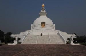 The Japan Peace Stupa.