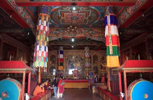 Inside Guru Lhakhang Monastery.