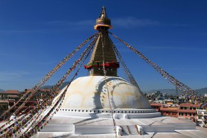 Bouddhanath Stupa, with those Buddha eyes and Nirvana nose.