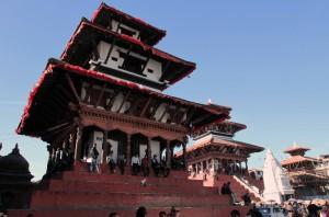 Pagoda temples in Kathmandu Durbar Square.