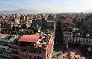 View of Kathmandu from the topmost level of Basantapur Durbar.