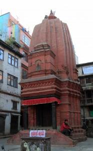 Brick temple in Kathmandu Durbar Square.
