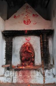 Relief statue of Ganesha.