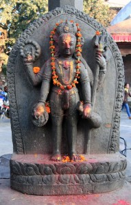 Hindu statue with a boner.