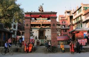 """Holy men"" near Mahendreshwor temple."