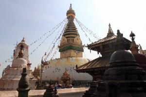 Another view of the Swayambhunath stupa.