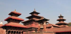 Pagoda temples in Patan Durbar Square.
