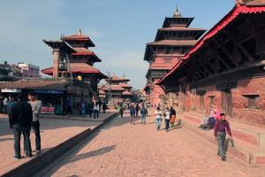 Main walkway in Patan Durbar Square.