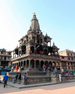 Closer view of Krishna Mandir.