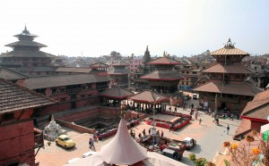 Patan Durbar Square seen from the rooftop restaurant I ate lunch at.