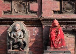 Hindu sculptures in Patan.