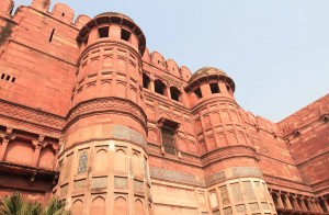 The towers above the entrance to the fort at Amar Singh Gate.
