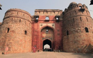 "Bada Darwaza, the western gate at Purana Qila (the ""Old Fort"")."