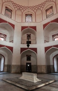 Inside Humayun's Tomb.
