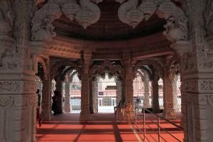 Inside Shri Swaminarayan Satsang Mandir.