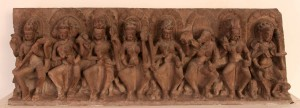 Saptamatrikas (seven divine mothers), from the tenth century AD.