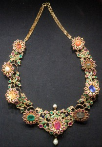 Jeweled necklace.