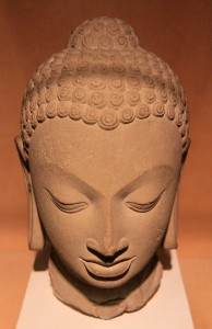 Buddha head from the fifth century AD.