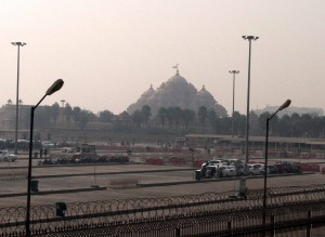 The closest picture I was able to get of Akshardham Temple today.