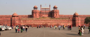 The Red Fort, in front of Lahori Gate.