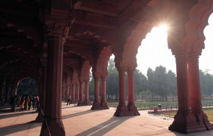 "Diwan-i-Am (the ""Hall of Public Audience""), in the Red Fort."