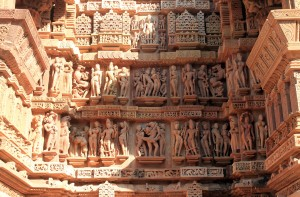 More sculpted reliefs on the Lakshmana Temple.