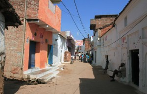Street through the old village of Khajuraho.