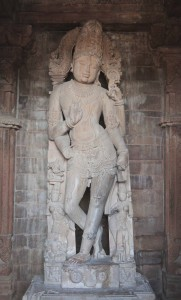 Vishnu statue inside the Chaturbhuja Temple.