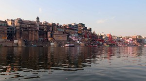 Approaching Dasaswamedh Ghat (the main ghat in Varanasi).